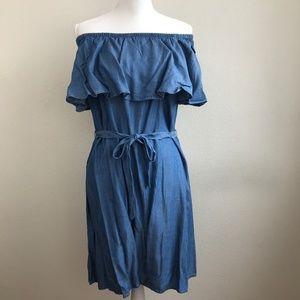 Old Navy Off Shoulder Chambray Dress